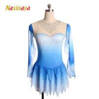 Nasinaya Figure Skating Dress Customized Competition Ice Skating Skirt for Girl Women Kids Patinaje Gymnastics Performance 101