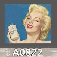 Bevle A0822 Marilyn Monroe Luggage Skateboard Graffiti Notebook Motor Stickers Decal Fridge Waterproof Sticker for Cars