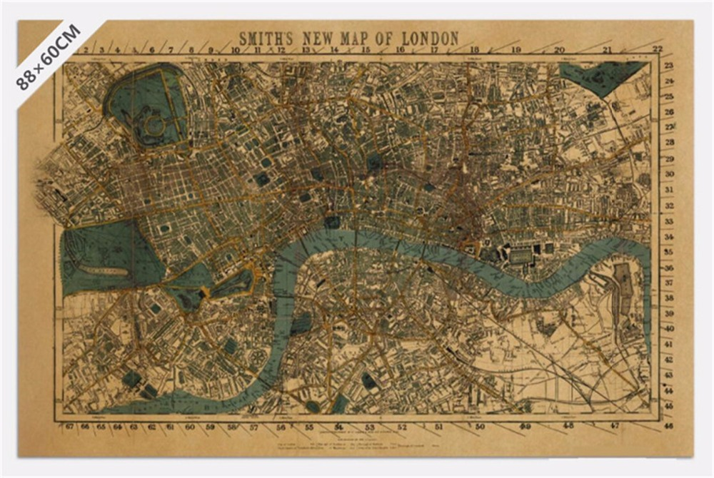 Vintage mix order ancient old city world maps middle earth harry vintage mix order ancient old city world maps middle earth harry potter map poster retro kraft paper home decor wall sticker in wall stickers from home sciox Choice Image
