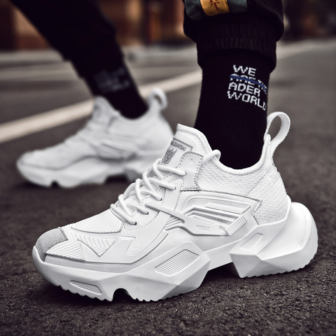 Running Shoes for Man Sneakers Sports Shoes Black White Men Comfortable Walking Shoes Brand Sneakers Multan