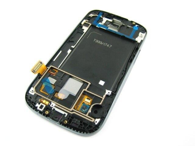 Полный AMOLED ЖК-Дисплей + Сенсорный Экран Digitizer + Рамка для Samsung Galaxy S3 AT & T SGH-i747/T-mobile SGH-T999 Белый