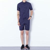 Fashion Mens romper set Cotton Jumpsuits Leisure Suspender Trousers Overalls Short Pants