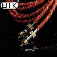 EMK цифровой коаксиальный аудио Кабель сабвуферный кабель RCA к RCA кабель двойной экранированный позолоченный 5 м 10 м