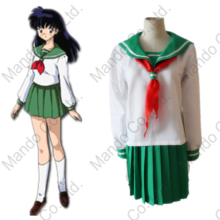 Anime Inuyasha Moneca Stori Cosplay Costumes Girls school uniform dress Suit Halloween women cosplay sailor suits outfit