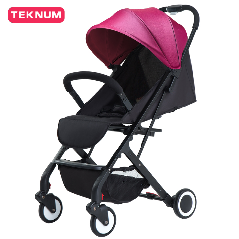 Baby stroller ultra-light portable umbrella folding four-wheeled childrens cart on the airplane