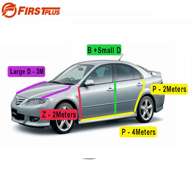For Mazda 6 Rubber Seal Straps Front Rear Doors Bonnet Anti Noise Dust Sealing Strips Trim