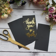 gold black 25pcs thank you so much Card with envelope greeting card wedding birthday party invitation DIY Decor gift