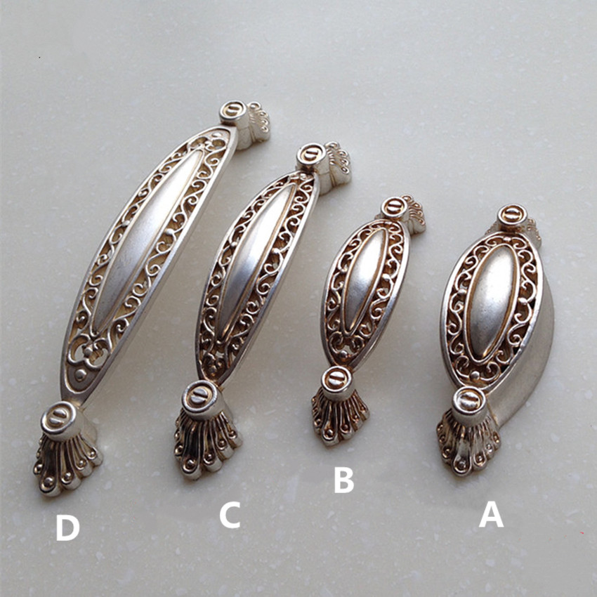 64mm 96mm 128mm vintage distress silver furniture handles antique silver kitchen cabinet dresser drawer pull handle knob europe furniture drawer handles wardrobe door handle and knobs cabinet kitchen hardware pull gold silver long hole spacing c c 96 224mm