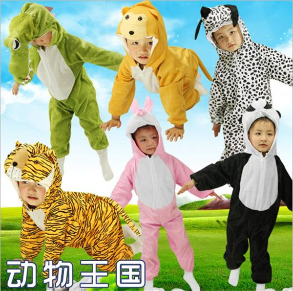 все цены на Cartoon Children Kids Animal Costume Cosplay Clothing Dinosaur Elephant Halloween Animals Jumpsuit for Boys Girls