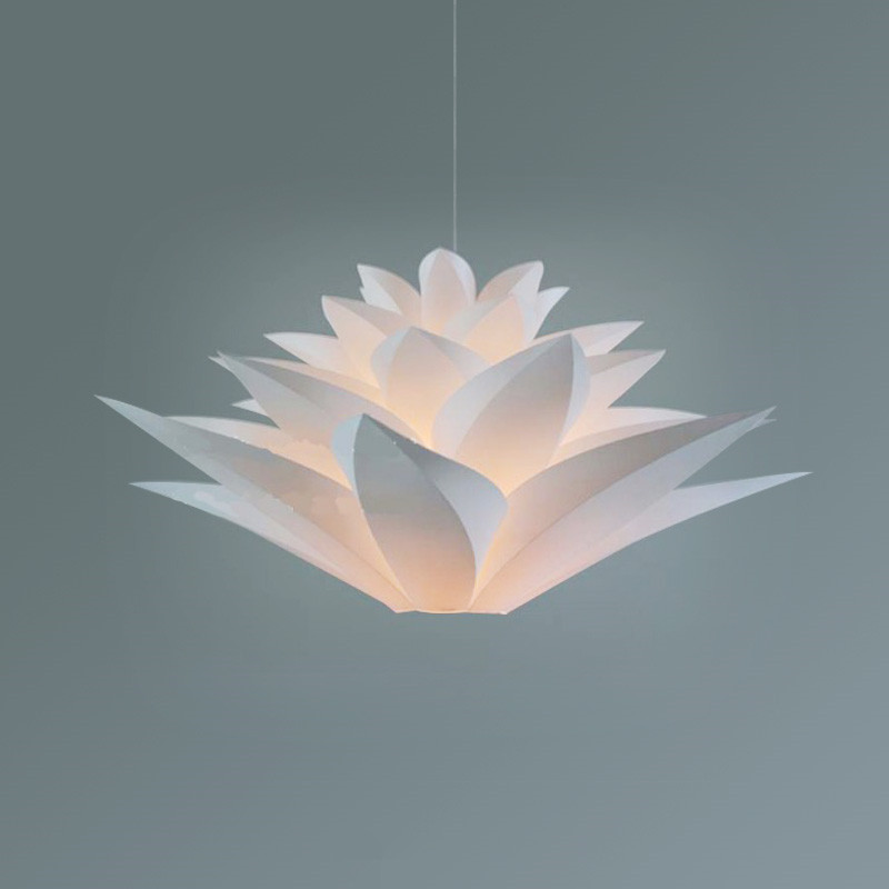 Modern Pendant Lights Lily DIY PVC Lotus Pendant L& For Kitchen dinning Room LED hanging l& light fixtures home lighting-in Pendant Lights from Lights ... & Modern Pendant Lights Lily DIY PVC Lotus Pendant Lamp For Kitchen ...