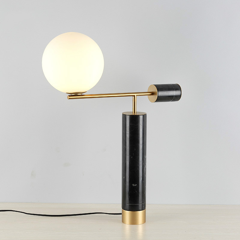 Moderne minimaliste designer salon modèle chambre terre pierre table lampe chambre chevet hôtel décoration lampe lw523504py