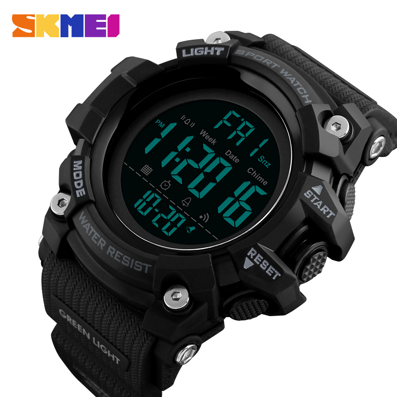 SKMEI Mænd Outdoor Sports Watch Countdown 2Time Alarm Fashion - Mænds ure - Foto 1