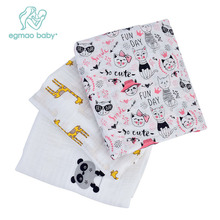 ФОТО Multifunctional Baby Blanket 100 Cotton Swaddle Muslin Blanket Baby Wrap Receiving Blanket Towel  120x120cm