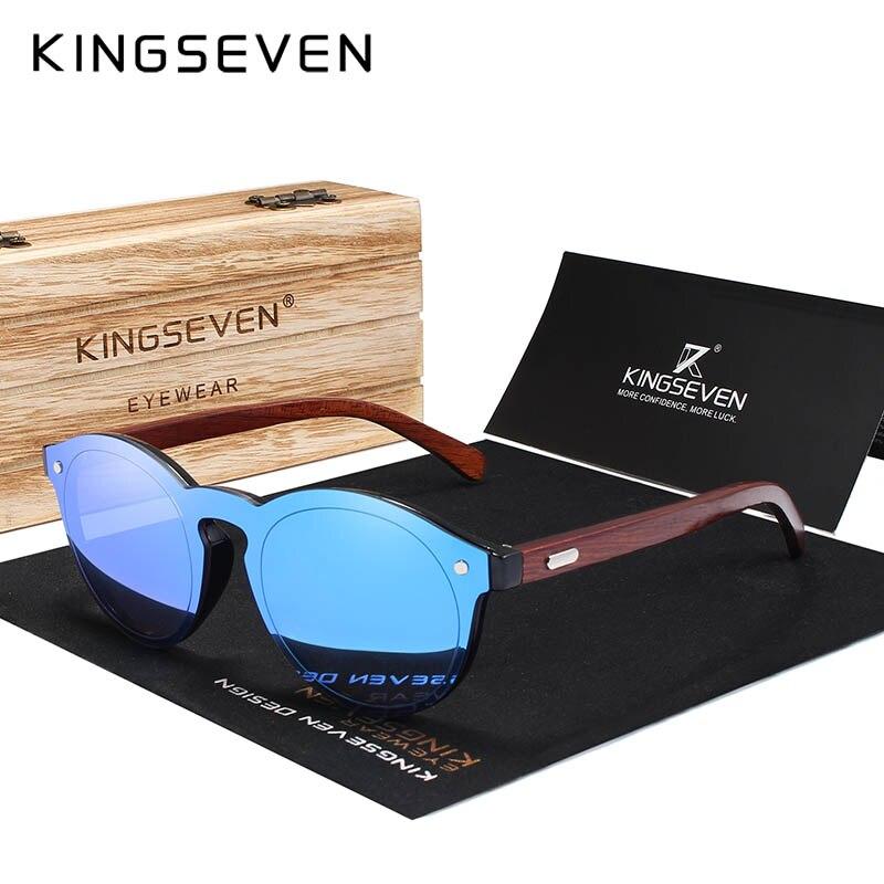 KINGSEVEN diseño 2018 Natural hecho a mano gafas de sol de madera para hombres gafas de sol para mujer diseño de marca Original gafas de palisandro