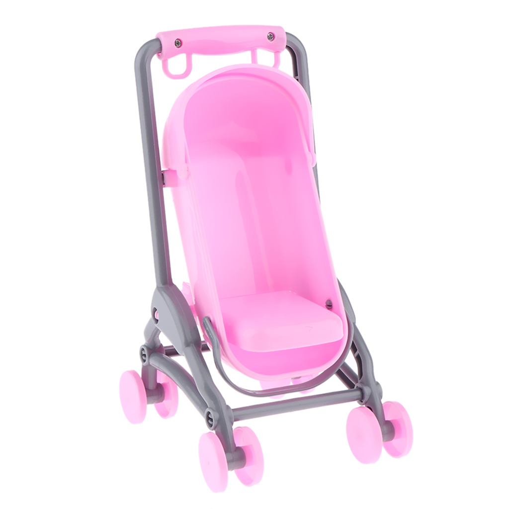 Simulation Furniture Toy Baby Doll Stroller Baby Carrier Model for Mini Doll