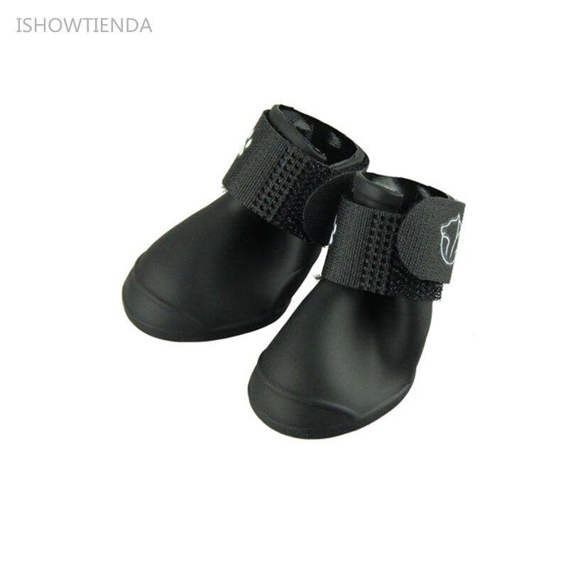 f47d4d1ffe9 ISHOWTIENDA Hot 4 PCS Pet Dog Chuva Botas Botas Doces Moda Sapatos Cão  Botas de Chuva Botas de Borracha À Prova D  Água
