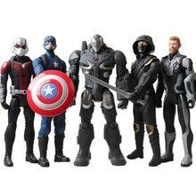 12 marvel//30cm marvel vingadores final titan herói guerra máquina capitão américa homem formiga hawkeye thor figuras de ação brinquedo para presentes das crianças
