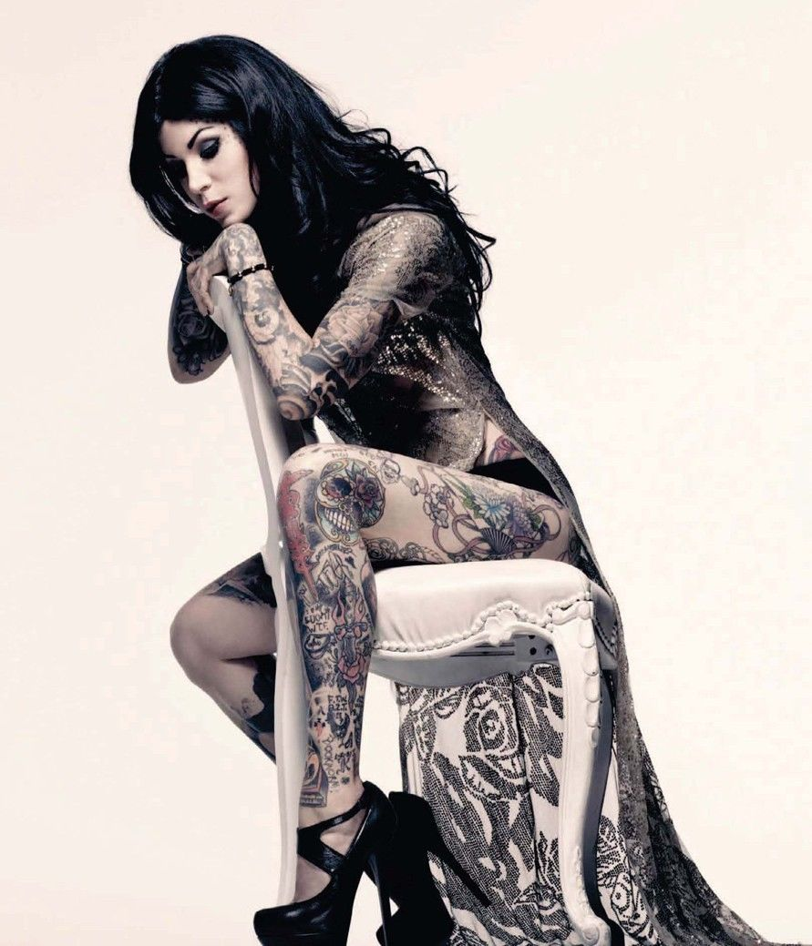 Tattoo Girl Von - Kat von d hot hot girl tattoo silk poster art bedroom decoration 2673 china