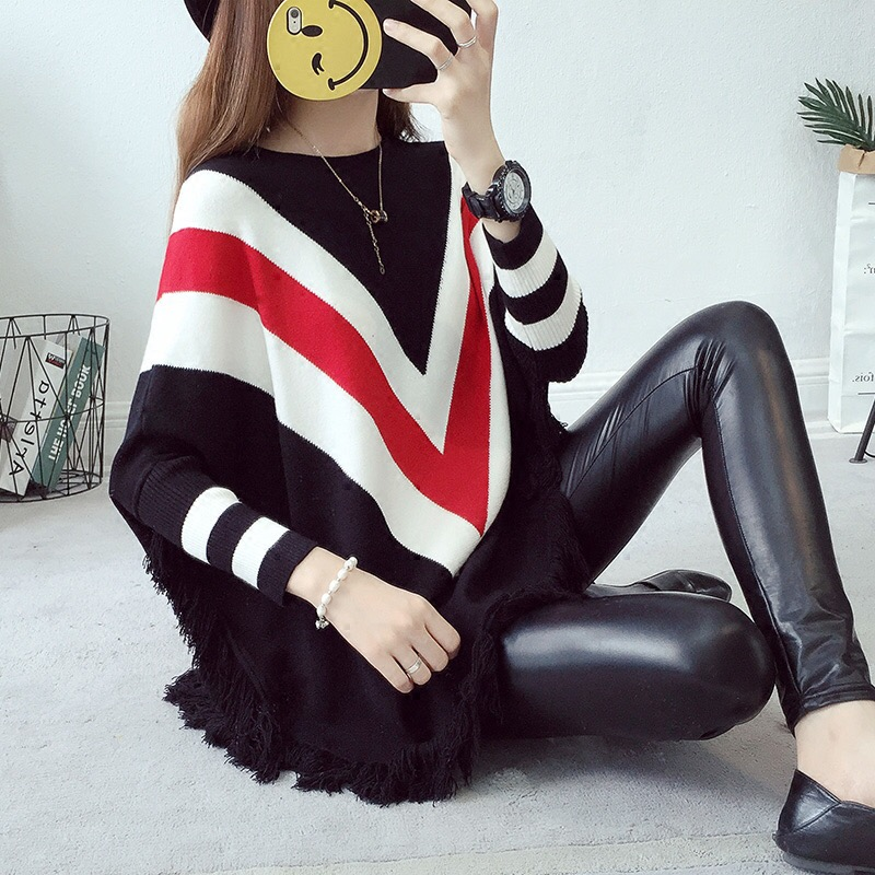 все цены на New Autumn and winter Fashion maternity clothes O-Neck Batwing Cape Poncho Knit Top Sweater Coat pregnancy Sweater онлайн