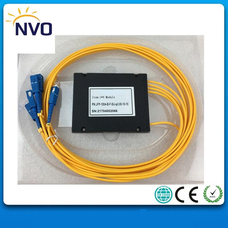 5Pcs/Lot,1*4 Fiber Optic PLC Splitter,ABS Package,dia:2.0mm,Length:1M,SC/UPC