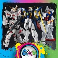 CMT Origianl Bandai Tamashii Nations GUNDAM UNIVERSE GU RX 0 UNICORN XXXG 01 W WING RX 78 2 GUNDAM Anime Toys Figure