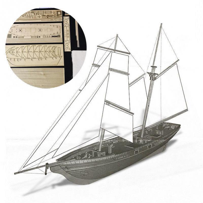 Toys & Hobbies Model Building Kits 2019 New Style Rctown Assembling Building Kits Ship Model Wooden Sailboat Toys Harvey Sailing Model Assembled Wooden Kit Diy D30