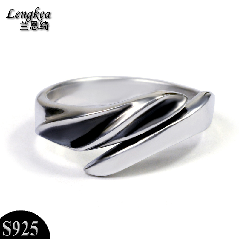 Free shipping,fashion male/female vintage 925 silver pinky opening ...