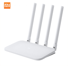 Originale Xiao mi mi WIFI Router 4C 64M di RAM 802.11n 2.4G 300Mbps 4 Antenne Smart APP Di CONTROLLO band Wireless Router Ripetitore