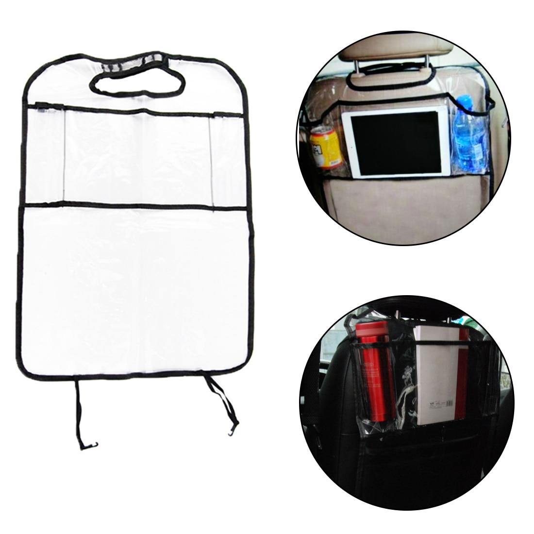 Multi Pocket Multi-purpose Anti-kick Car Seat Back Protector Cover Children Kick Mat Auto Car Storage Bag Car Seat