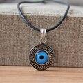 Turkish Evil Eye Colar aço inoxidável 316L Pingente D2cm Nazar Jóias Mulher Homens Protetor de Chave Grego