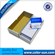 Inkjet PVC card printable pvc business cards for Epson printer without chips on high quality