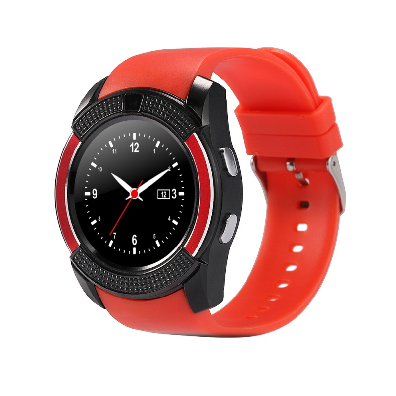 For IOS Android Round Sport Watch Unisex Bluetooth Smart Watch V8 Clock With SIM TF Card Sync Notifier Smartwatch