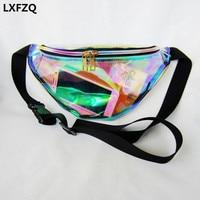 Fanny Pack Women S Handbags Laser Purse Harajuku Translucent Reflective Chest Waist Bag Women Belt Bag