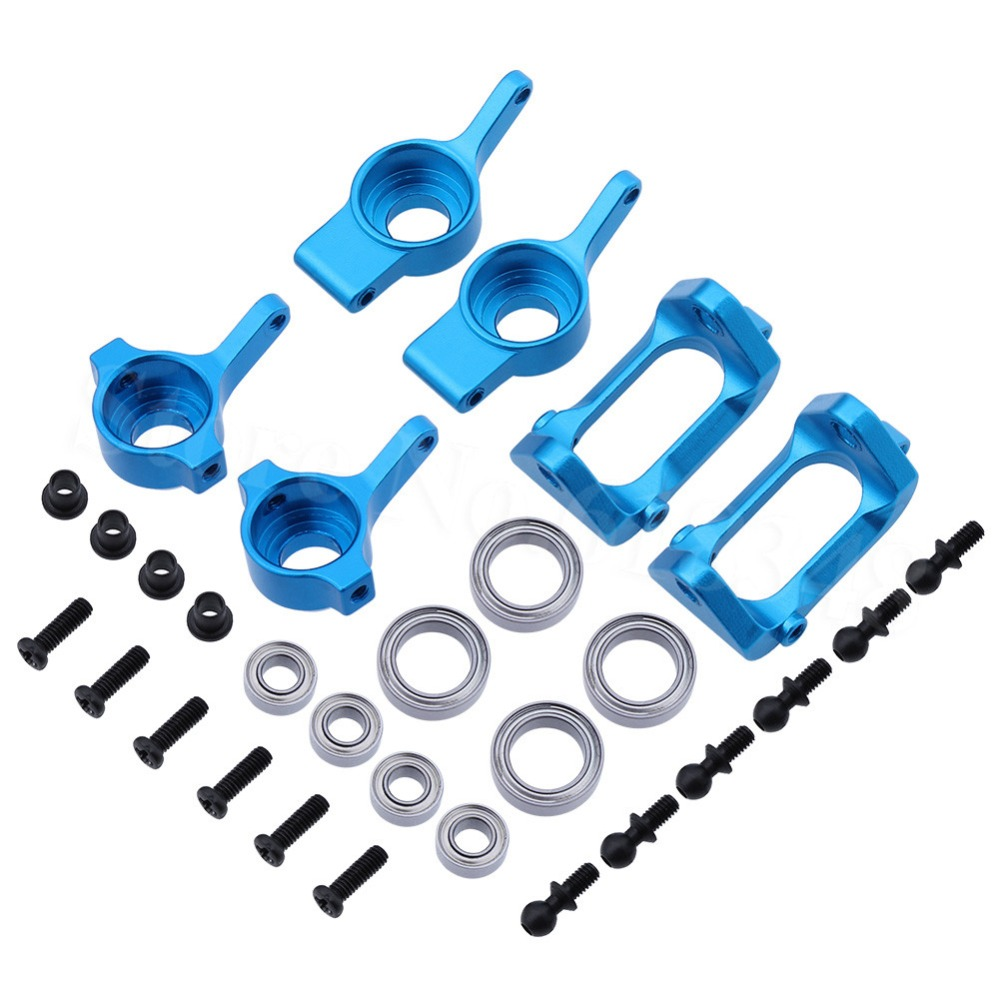 Aluminium Voor Achter Stuurnaaf Base C Drager Knuckle Upgrade Kit Voor Wltoys A959 A949 A969 A979 K929 1/18 RC Auto
