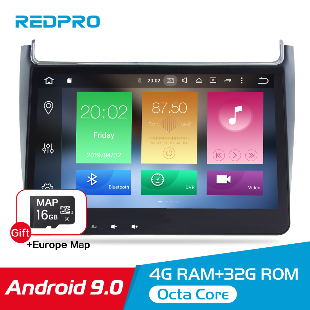 4G RAM Android 9.0 Car Radio Multimedia Player For Volkswagen Polo 2015 2017 GPS Video WIFI Bluetooth Navigation Stereo NO DVD-in Car Multimedia Player from Automobiles & Motorcycles