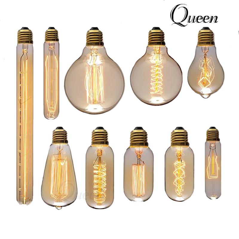 edison bulb e27 ampoule vintage retro lampada filamento. Black Bedroom Furniture Sets. Home Design Ideas