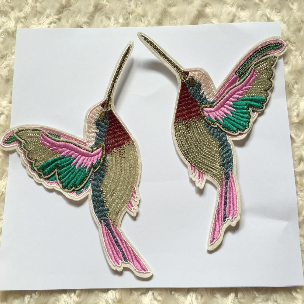 ᐅ5 Par 3D paillette lentejuelas Bordado Aves Patch applique hierro ...