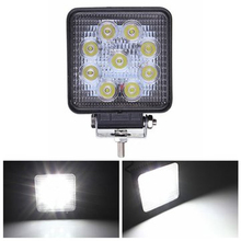 ECAHAYAKU 1x 4 inch Square 27W LED Work Light bar Spot/Flood For 4x4 Off road ATV Truck Tractor Motorcycle Driving Fog Lights