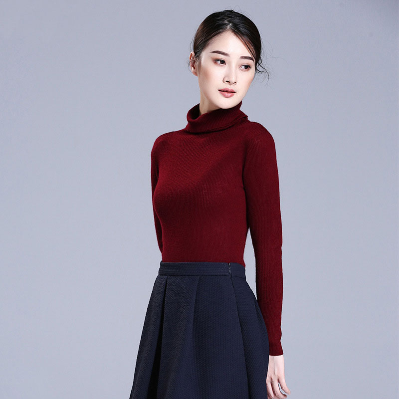 100 Pure Cashmere White Sweaters Turtleneck Women Spring 2019 Sweaters Pullover Fashion Lady s Spring Autumn