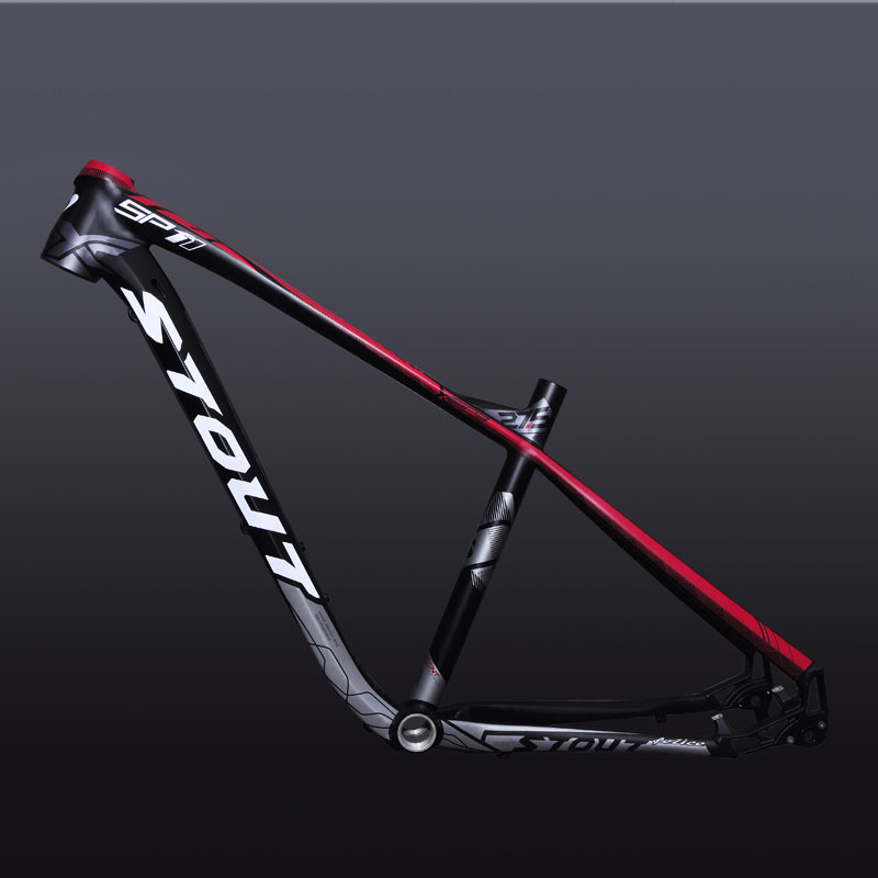 Stout SP-11 MTB aluminum alloy thru-axis barrel shaft mountain bike frame 27.5 inch inner line XC off-road bicycle frame 17 inch mtb bike raw frame 26 aluminium alloy mountain bike frame bike suspension frame bicycle frame