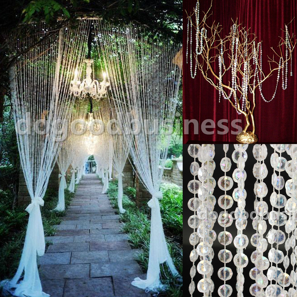 20 meters65 feet acrylic 12mm beaded ab rainbow colorful clear 20 meters65 feet acrylic 12mm beaded ab rainbow colorful clear crystal garland strands for wedding decoration table chandelier in party backdrops from home arubaitofo Image collections