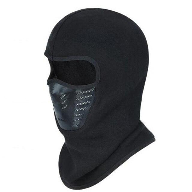 Windproof Skullies בימס לגברים נשים מלא פנים מסכת סתיו חורף כובע צמר לנשימה גרב