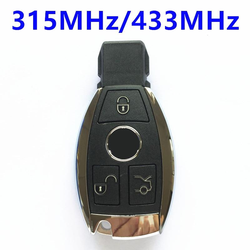 Prix pour 3 Boutons Intelligent Intelligent À Distance Clé 315 MHz 433 MHz pour BENZ 2000 + Voiture Sans Clé Fobik NEC BGA Sytle