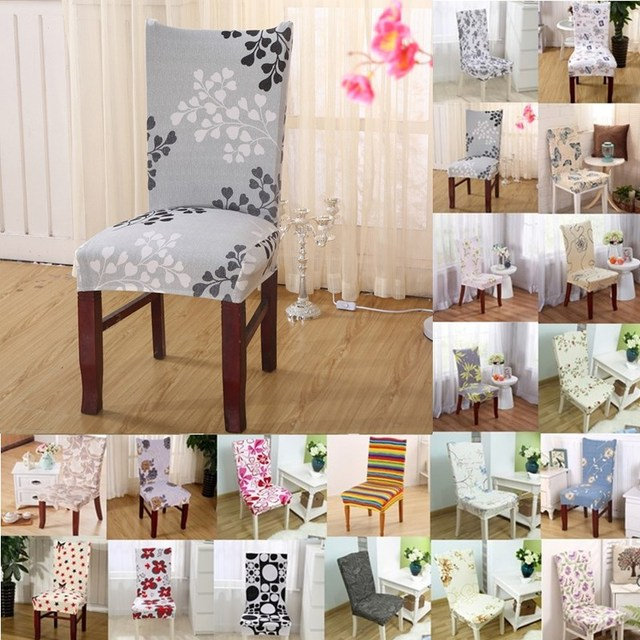 1pcs Flower Striped Stretch Home Decor Dining Chair Cover Spandex  Decoration Covering Office Banquet Hotel Chair