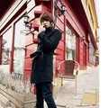 Men's Slim wool double-breasted long trench coat European and American style Men popular suit collar fashion trench coat