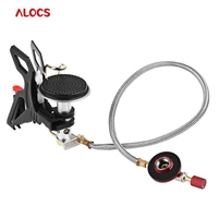 ALOCS 3000W Durable Gas Furnace Stove Outdoor Cookware Camping Folding Gas Stove Burner For Hiking Fishing