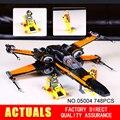 LEPIN 05004 748 Unids Star Wars x-wing Fighter Juguete Ensamblado de Primer Orden Poe Módulo Compatible Con regalo de los niños 75102