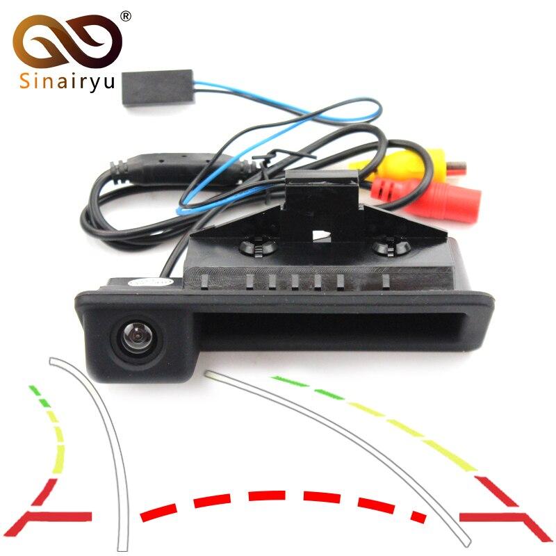 Trayectoria dinámica pistas cámara de visión trasera para BMW Serie 3 BMW serie 5 X5 X1 X6 E39 E46 E53 E82 E84 E88 E90 E91 E92 E93 E60