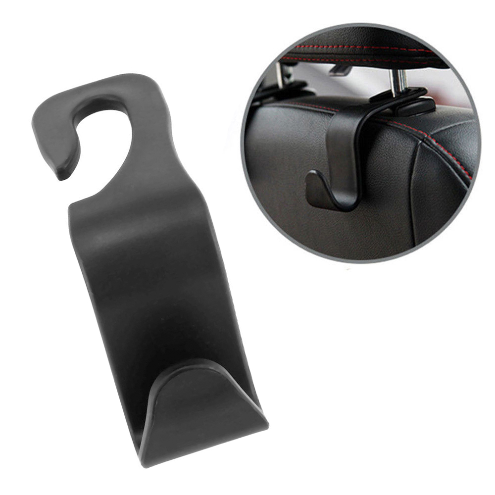 1 шт заднего сиденья Крюк интерьер Авто продукты Крючки для подвешивания автомобиля вешалки сумку-органайзер крюк сиденья подголовник держатель автомобильный аксессуар - Название цвета: Черный