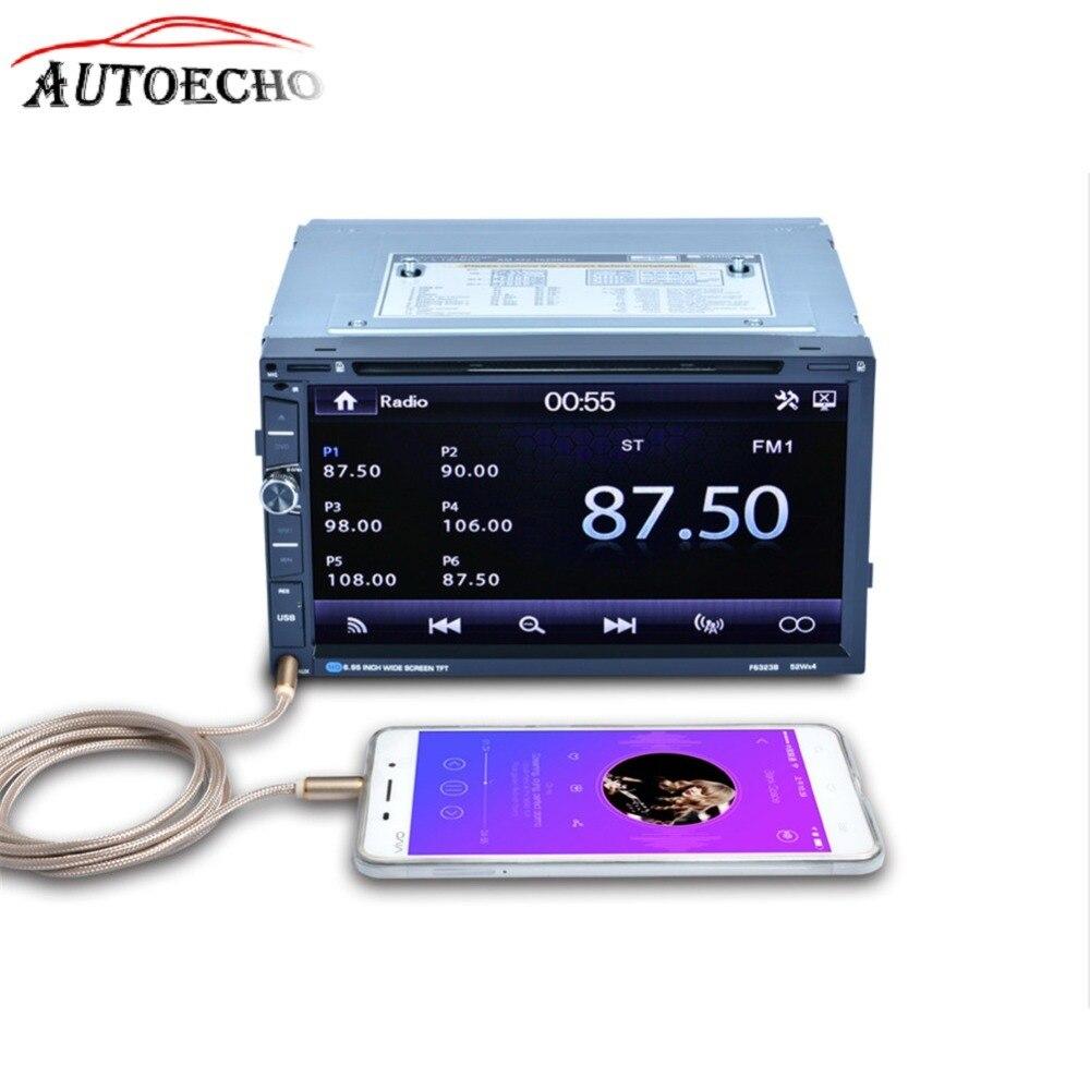 7 pouce 2Din Voiture DVD Lecteur Bluetooth HD Tactile LCD Écran 7 Couleur Rétro-Éclairage Soutien ISO Commande Au Volant MP5 lecteur